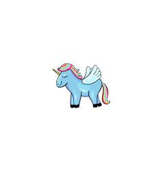 pegasus cartoon icon vector image