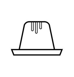 Pudding icon vector