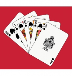 royal flush spades vector image