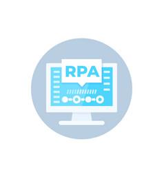 rpa icon robotic process automation vector image