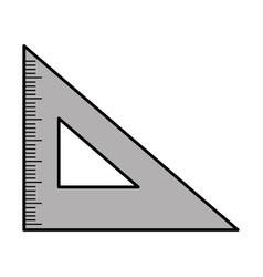 rule school isolated icon vector image