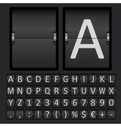 Scoreboard Letters and Numbers Alphabet vector image