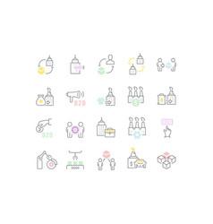 Set line icons b2b vector