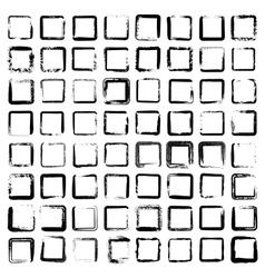 Set of 64 unique ink sketched shapes vector image
