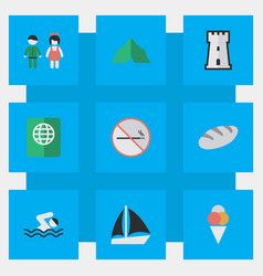 Set of simple relax icons vector