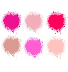 splash pink collection vector image