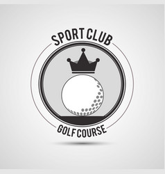 sport club golf course ball crown vector image