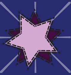 star tech background vector image