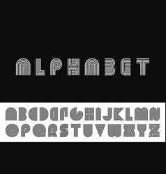 striped english alphabet vector image