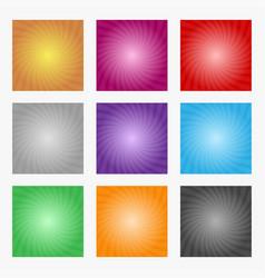 Sun rays set color rays sun on gray background vector