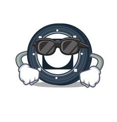 Super cool byteball bytes coin character cartoon vector