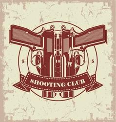 Symbol shooting club vector