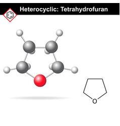 Tetrahydrofuran chemical molecule vector