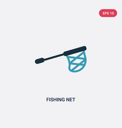 two color fishing net icon from sports and vector image