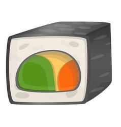 vegan sushi icon cartoon style vector image