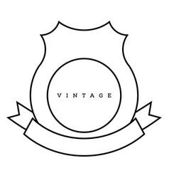 Vintage design framework vector