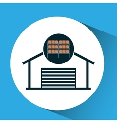 warehouse boxes concept icon vector image
