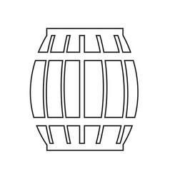 Wooden beer keg icon design vector