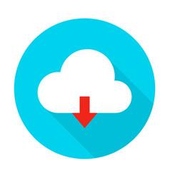 cloud upload flat circle icon vector image vector image