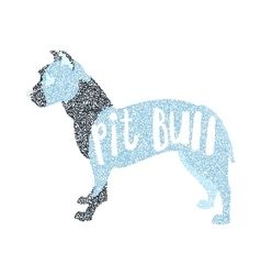 Form of round particles american pit bull terrier vector image