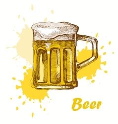 hand draw beer vector image vector image