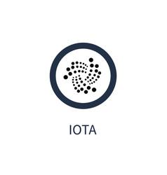 iota cryptocurrency icon title vector image