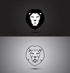 Lion modern two tone and outline shape logo design vector image vector image