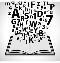 Open Book- Education vector image vector image