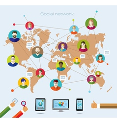 Social network and modern technology vector image