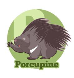 Abc cartoon porcupine vector