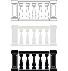 balustrade vector image vector image