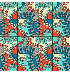 Seamless colorful abstract mod pattern vector
