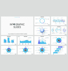 big collection of simple infographic design vector image vector image
