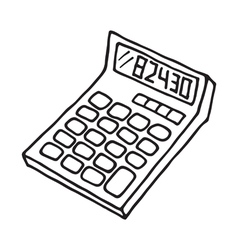Calculator icon outlined vector image vector image