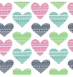 Hearts in Ethnic Style vector image vector image