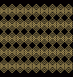 overlapping golden squares black background vector image vector image