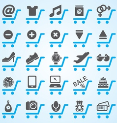 Shopping and E-commerce Icons Set vector image vector image