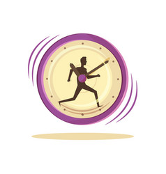 time management clock and man vector image