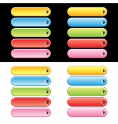 web plastic button set vector image