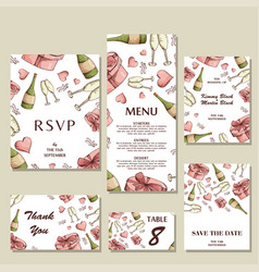 wedding invitation template with individual vector image vector image