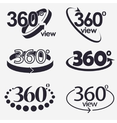 360 Degrees View Icon vector image vector image