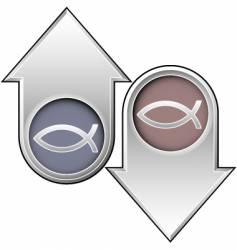 fish arrows vector image vector image
