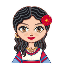 Gypsy girl historic clothes vector