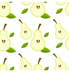 Pear seamless background vector image