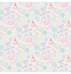 Seamless pattern shcool color vector image vector image
