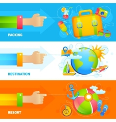 Summer Vacation Banner Set vector image vector image