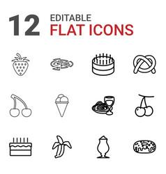 12 delicious icons vector