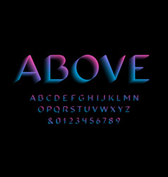 3d font alphabet with latin letters and numbers vector image