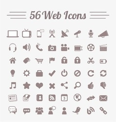 56 Web Icons vector