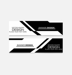 abstract design banner web template elegan vector image
